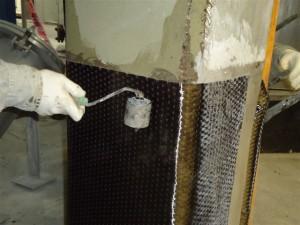 Refuerzo conTejido de fibra de Carbono