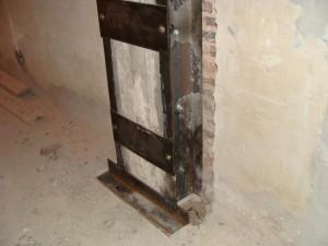 Refuerzo metalico de columna